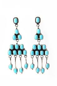 399 00 navajo turquoise chandelier earrings