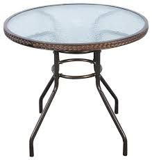 costway 32 patio rattan round table