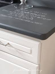 Freckled Laundry chalk paint countertops