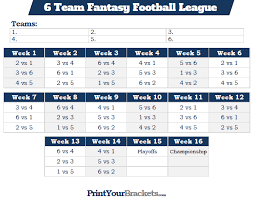 8 Team League Schedule Generator 6 Team Schedule Generator League Tournament Scheduler Leaguelobster