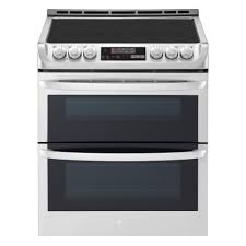 lg electronics 7 3 cu ft smart double oven electric range self cleaning