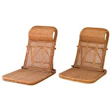 mid century rattan and bamboo beach chairs for