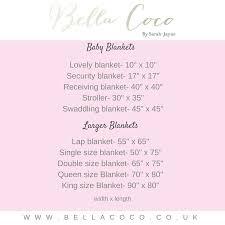 Crochet Blanket Sizes Guide Bella Coco By Sarah Jayne