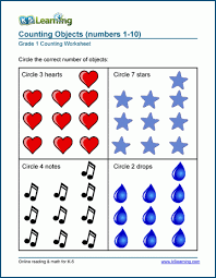 1st Grade Number Charts And Counting Worksheets K5 Learning