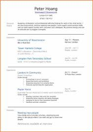 Gallery Of Resume For First Time Job