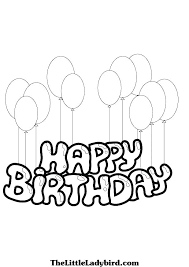 Birthday Coloring Pages Free Birthday Coloring Pages Free Download