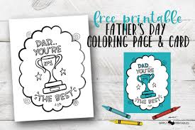 It's perfect to use in church or sunday if you want even more, we have a set of printable i love daddy cards that children can color as a. Free Printable Father S Day Coloring Page And Card