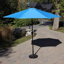 hfu 411 blue 9 ft market umbrella