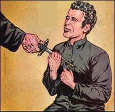 Image result for jesuit oath with dagger