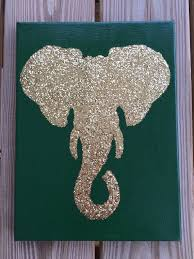 Custom 9x12 Glittered Elephant Silhouette Canvas Art, nursery, glittered  elephant, dorm room decor, roll tide, bohemian, Alabama, elephant