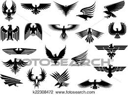 hawk wing clipart. Plain Clipart Heraldic Black Eagles Falcons And Hawks Set Spread Wings Isolated On  White Background Inside Hawk Wing Clipart