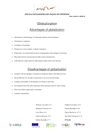 ask the experts globalization essay advantages disadvantages globalization essay structure task