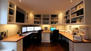 two desk office. Delighful Two Great Home Office Ideas For Two Desks Fireweed Designs And Desk N