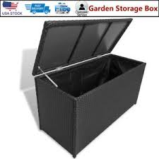 Outdoor <b>Garden Storage Box</b> Utility <b>Chest Case</b> Shed <b>Poly</b> Rattan ...