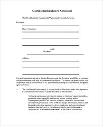 21+ Confidentiality Agreement Form Template - Free Documents In Pdf ...
