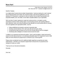 Sales Resume Cover Letter Best Sales Customer Service Representatives Cover Letter Examples