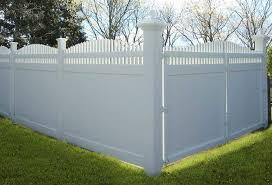 Image White Vinyl Fence Designs Nj Vinyl Gallery Image 01 Galaxy Fence Services Vinyl Fence Installation Nj