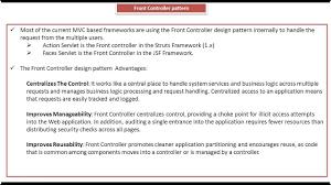 Controller Design Pattern Front Controller Design Pattern Key Points
