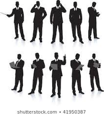 本 ビジネスマン シルエットのイラスト素材画像ベクター画像