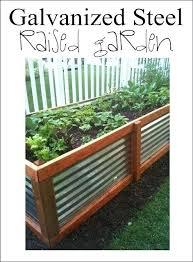 galvanized raised garden bed raised garden bed tutorials corrugated iron raised garden beds uk