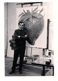 don in his studio at 463 broome street in nyc in 1964 with his painting strawberry