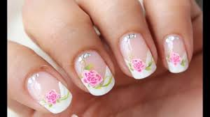 Water Decals Side French Manicure Nail Designs French tip nail art ...