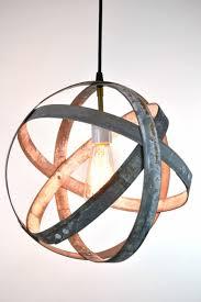 atom collection atom wine barrel ring pendant light