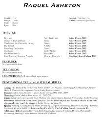 Movie Theatre Resume Sample Child Performer Resume Sample Technical Theatre Resume Actor