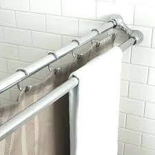 brushed nickel shower curtain rods double rod shower curtains marvelous tension shower curtain rods interior decor
