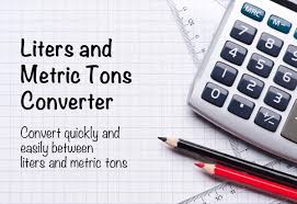 Liters To Metric Tons Converter The Calculator Site