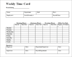 Weekly Time Record Weekly Time Record Template And Wages