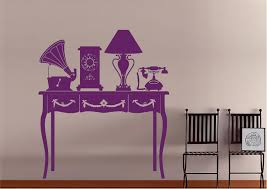 retro hall table. Retro Hall Table Wall Stickers