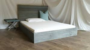 The Michelle Grey & Turquoise Weathered Reclaimed wood Bed Frame