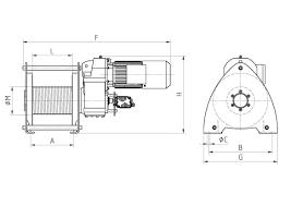Hoist Drum Design Pfaff Silberblau