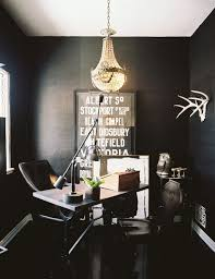 home office inspiration. Home Decor, Office Design Inspiration Black Wall Chair Table Plant Pot: Outstanding