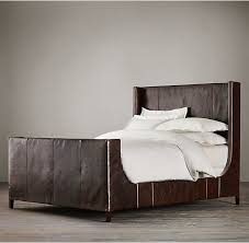 upholstered leather sleigh bed. Beautiful Leather Inside Upholstered Leather Sleigh Bed R