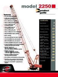 Manitowoc 2250 Load Chart Crawler Cranes Manitowoc 2250 Series 3 Specifications