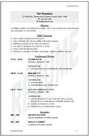 example australian resume resume format australia sample umfosoft