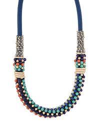 botswana beaded collar necklace