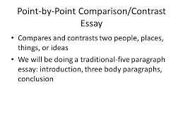 compare and contrast essay wrightsville and virginia beach ppt   comparison contrast essay compares and contrasts two people places things or ideas we will be doing a traditional five paragraph essay introduction