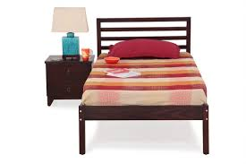 Elegant Single Bed Set And Trunk Storage End Table