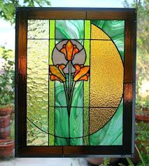 stained glass panels stained glass window panel breath of spring stained glass panel above front door