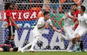 Resultado de imagen de egipto 0 uruguay 1 mundial 2018