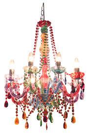 carnival multi colour chandelier