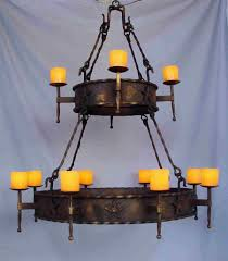 awesome rustic candle chandelier