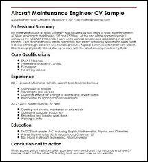 Aircraft Maintenance Engineer Cv Sample Myperfectcv Boeing Aerospace