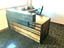 diy reception desk reclaimed wood reception desk reclaimed wood reception desk post reclaimed wood reception