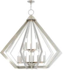 brushed nickel chandelier prism contemporary brushed nickel chandelier lamp loading zoom brushed nickel chandelier with crystals