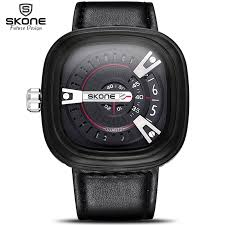 online get cheap futuristic watches for men aliexpress com skone novelty futuristic square dial designer men watches shock resistant leather strap watch fashion casual wristwatch
