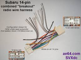 com subaru radio wiring harnesses products prices combined forward reverse 14 pin breakout harness add a sub amp or other accessory when keeping your factory radio